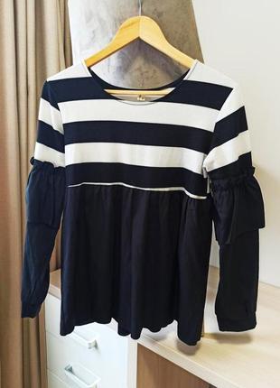 Блуза блузка полоска