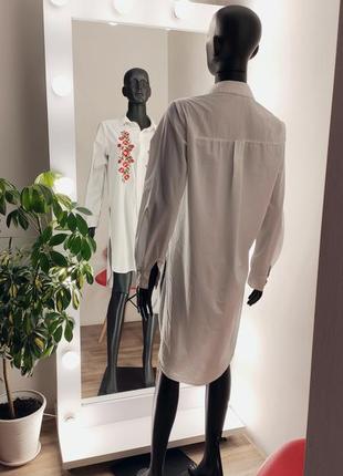 Удлинённая рубашка с вышивкой 🤍🌹3 фото