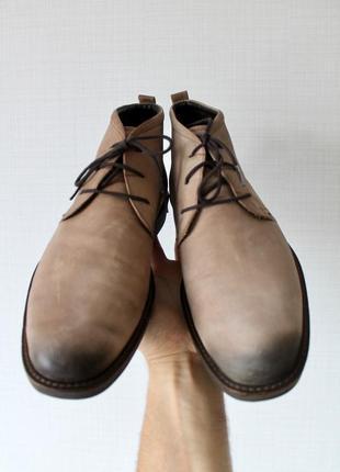 Ecco  мужские кожаные ботинки туфли