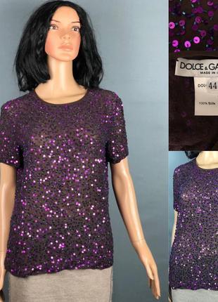 Dolce & gabbana первая линия шёлк блуза топ футболка