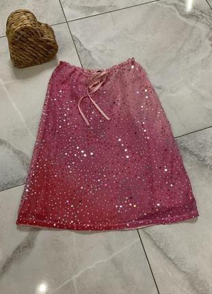Нереальная волшебная юбка с поетками на шёлке 💝
