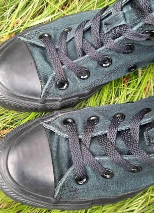 Тёмно-зелёные конверсы7 фото