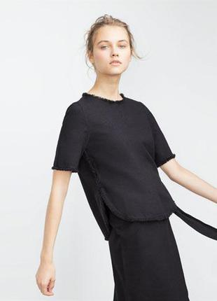 Котоновая блуза топ zara, s-m