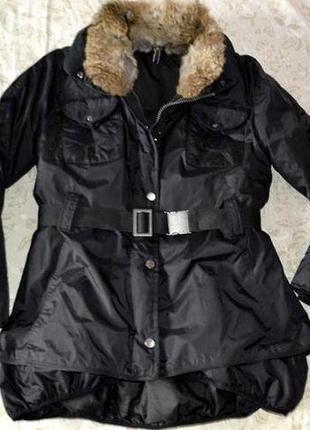 Куртка пуховик нardfit италия,оригинал, 80% пуха, с-м распродажа