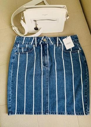 Стильная джинсовая юбка оригинал next
