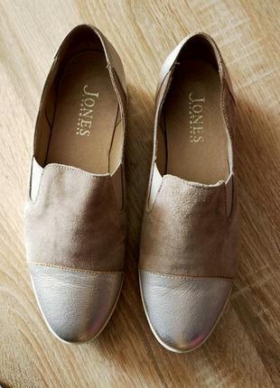 Туфли слипоны кожа 38