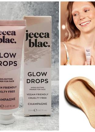 Праймер для лица jecca blac. glow drops highlighting primer for face