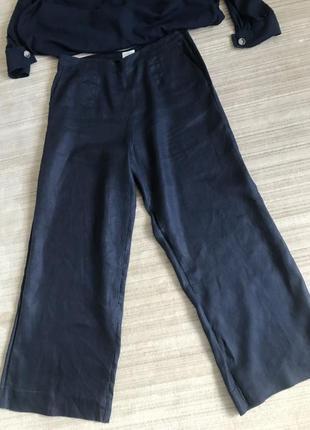 Шикарные свободные льняные брюки