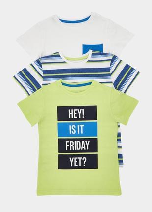 Набор футболочек 3 шт. в уп.dunnes, англия. размер 6-7 лет