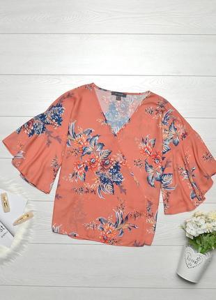 Трендова коралова блуза в квіти primark.