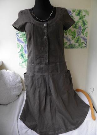 Платье esprit лен + коттон