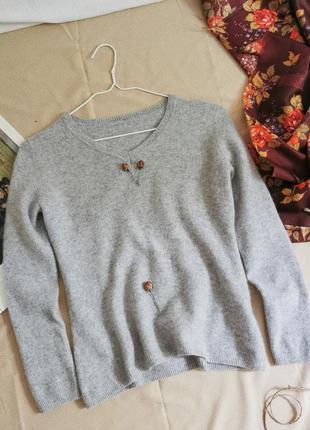 Базовый шерстяной кашемировый свитер