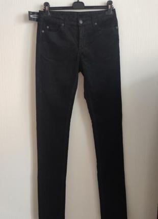 Вельветовые джинсы с покрытием