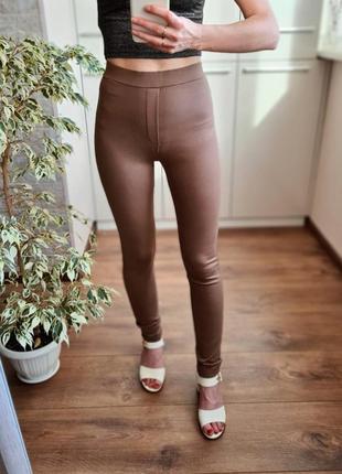 Стильные высокие базовые трикотажные брюки лосины 🌺