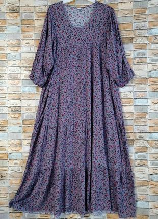 Длинное платье ярусами в стиле бохо