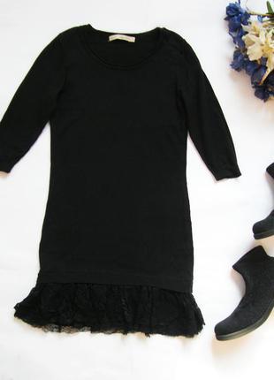 Хлопковое платье с гипюровой оборкой