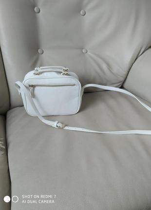 Сумочка біла zara2 фото