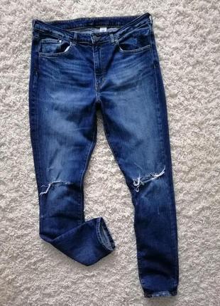 Стильные рваные женские джинсы h&m 33 в прекрасном состоянии