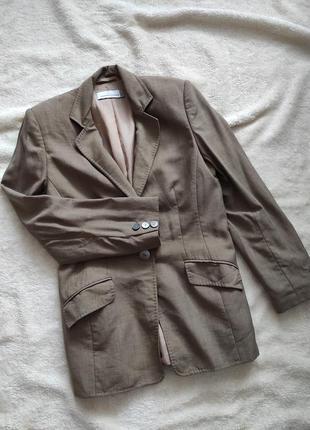 Однобортный блейзер фирменный пиджак кежуал стиль размер с/м