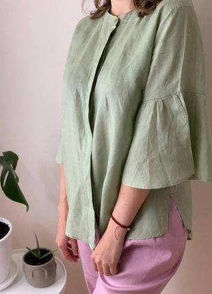 Невероятная стильная рубашка блуза со 100% льна от next