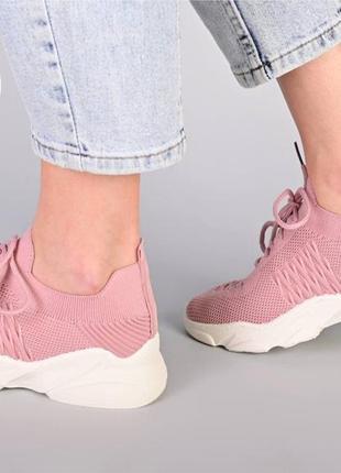 Ультрамодные летние кроссовки / пудра3 фото