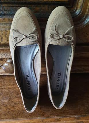 Замшевые балетки, туфли bonita, 26 см