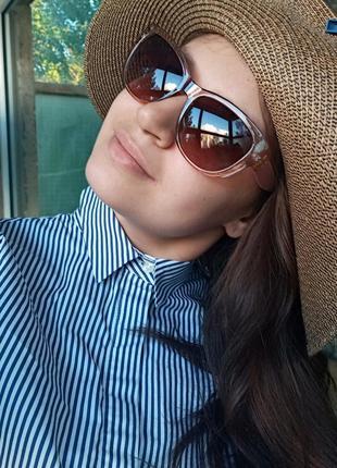 Стильные женские очки кошки очки лисий глаз в прозрачной оправе италия6 фото