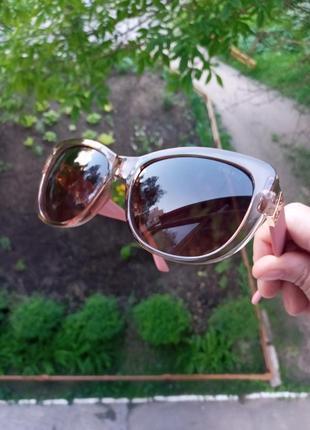 Стильные женские очки кошки очки лисий глаз в прозрачной оправе италия2 фото