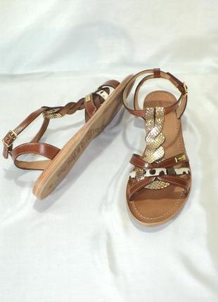 """Кожаные стильные босоножки-сандалии от """"les tropeiennes"""", р 39-40"""