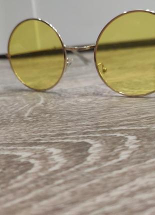 1+1=3 жёлтые круглые очки