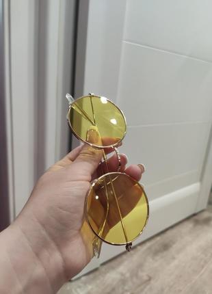 1+1=3 жёлтые круглые очки3 фото