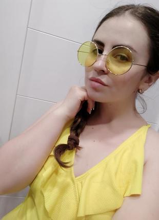 1+1=3 жёлтые круглые очки6 фото