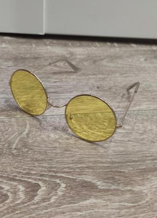 1+1=3 жёлтые круглые очки4 фото