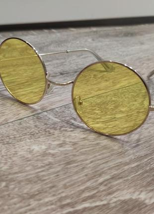 1+1=3 жёлтые круглые очки5 фото