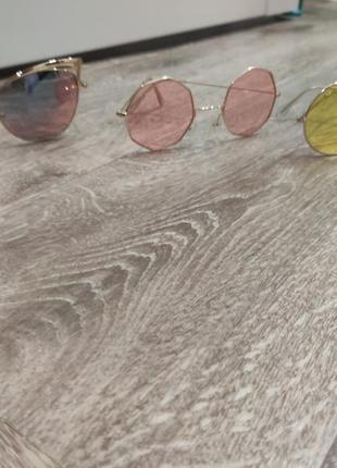 1+1=3 жёлтые круглые очки7 фото