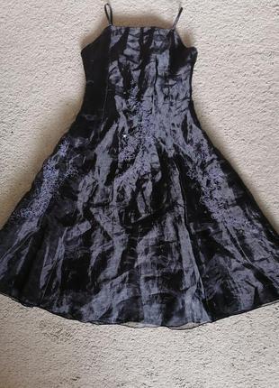 Праздничное нарядное платье, вышивка, трёхслойное, gloss