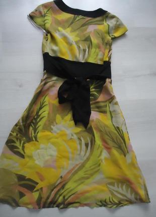 Фирменное шелковое платье с бантом, 100% шелк6 фото