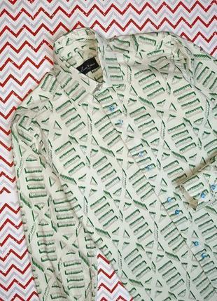 😉1+1=3 брендовая плотная рубашка с длинным рукавом хлопок classic fashion, размер 42 - 44