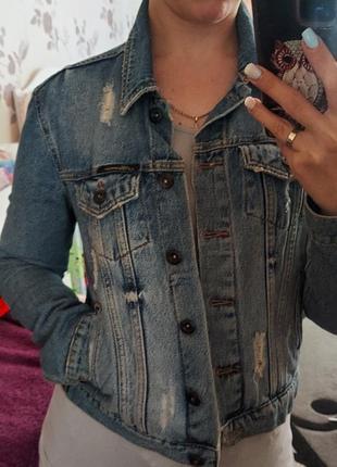 Джинсовая куртка джинсовка женская размер м турция