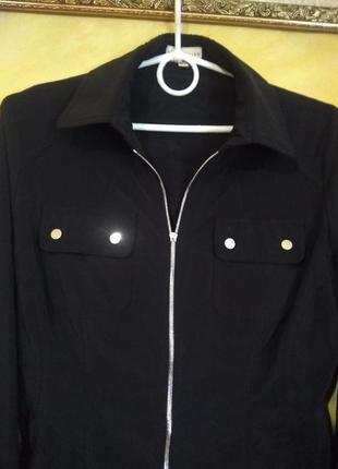 Стильная классная чёрная рубашка2 фото