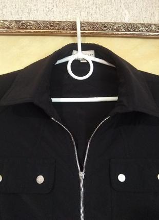Стильная классная чёрная рубашка3 фото