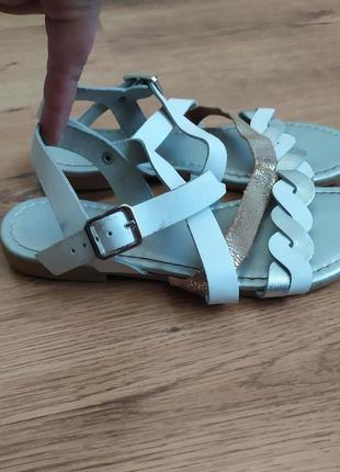 George girls дитячі  босоніжки білий/ срібний