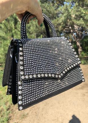 Идеальные сумочки в стразах с цепочкой