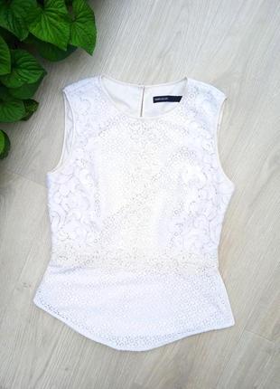 """Eu38 """"karen millen"""" кружевная хлопковая майка блуза2 фото"""