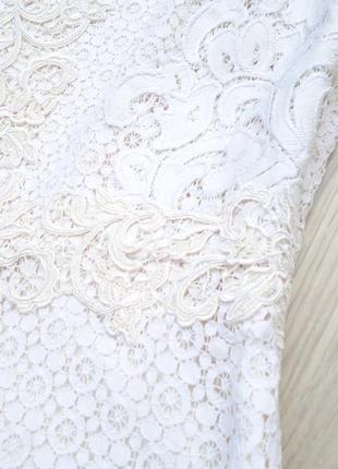 """Eu38 """"karen millen"""" кружевная хлопковая майка блуза5 фото"""