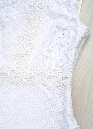 """Eu38 """"karen millen"""" кружевная хлопковая майка блуза4 фото"""