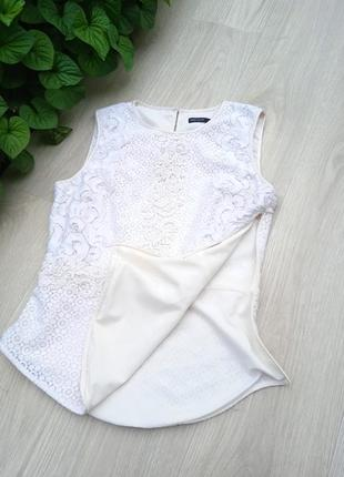 """Eu38 """"karen millen"""" кружевная хлопковая майка блуза6 фото"""