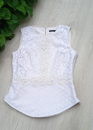 """Eu38 """"karen millen"""" кружевная хлопковая майка блуза1 фото"""