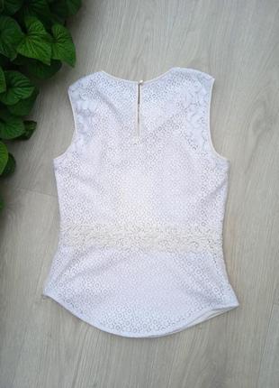"""Eu38 """"karen millen"""" кружевная хлопковая майка блуза9 фото"""