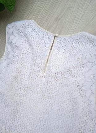 """Eu38 """"karen millen"""" кружевная хлопковая майка блуза10 фото"""